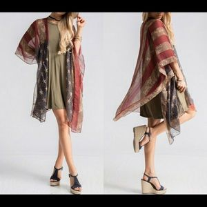 Jackets & Blazers - 🎉Host Pick🎉American Flag Kimono